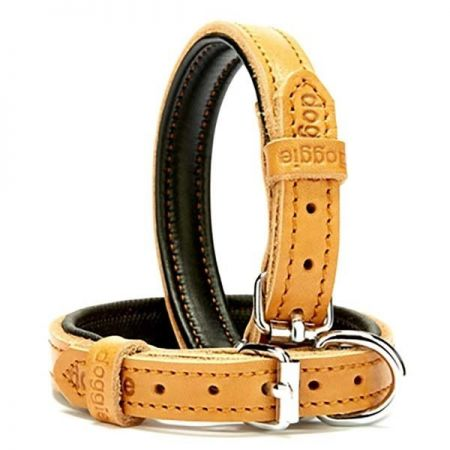 Doggie Fırstclass Köpek Deri Boyun Tasması Medium Camel 1,5x25-30 Cm