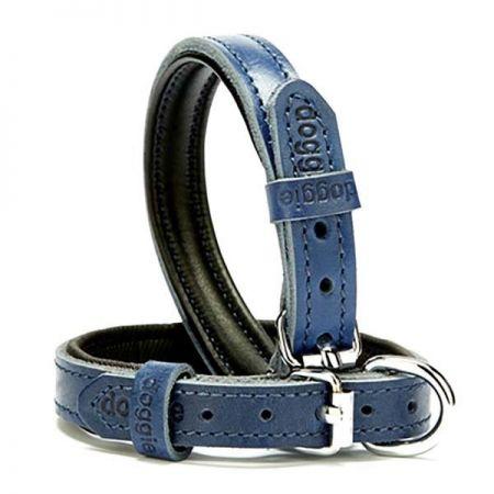 Doggie Fırstclass Köpek Deri Boyun Tasması Small Mavi 1,5x20-25 Cm