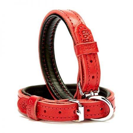 Doggie Fırstclass Köpek Deri Boyun Tasması Small Kırmızı 1,5x20-25 Cm