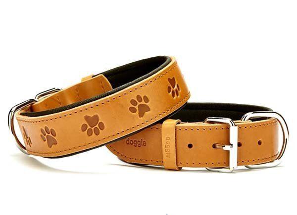 Doggie Comfort Deri Pati Desenli Köpek Boyun Tasması Large Camel 4x57-65 Cm