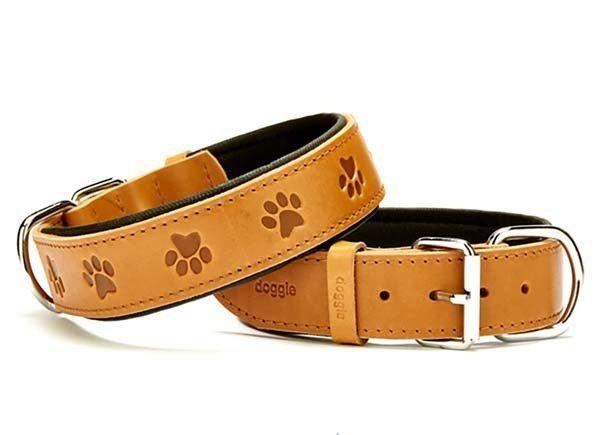 Doggie Comfort Deri Pati Desenli Köpek Boyun Tasması Small Camel 4x47-55 Cm