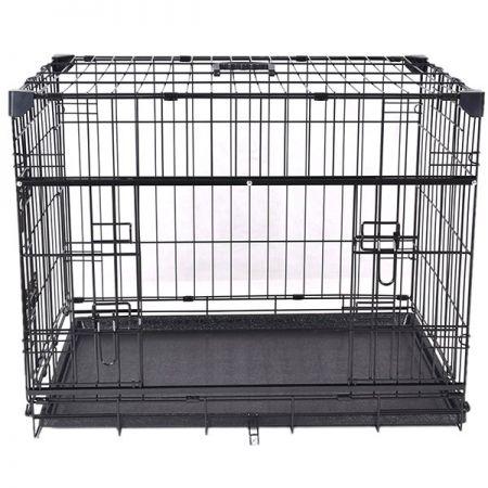 Flip Katlanır Köpek Kafesi Siyah 61x46x53h Cm