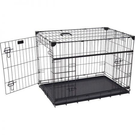 Flip Katlanır Köpek Kafesi Siyah 76x53x61h Cm