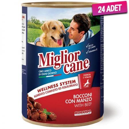 Miglior Biftekli Yetişkin Köpek Konservesi 405 Gr - 24 Adet