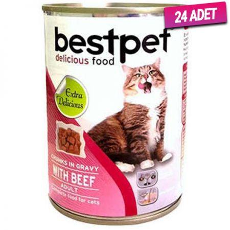 Bestpet Biftekli Gravy Yetişkin Kedi Konservesi 400 Gr - 24 Adet
