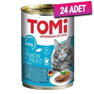 Tomi Somon ve Alabalıklı Kedi Konservesi 400 Gr - 24 Adet