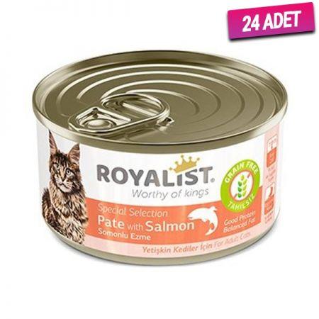 Royalist Somonlu Ezme Tahılsız Yetişkin Kedi Konservesi 80 Gr - 24 Adet