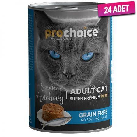 Pro Choice Adult Sardunya ve Hamsili Yetişkin Kedi Konservesi 400 Gr - 24 Adet