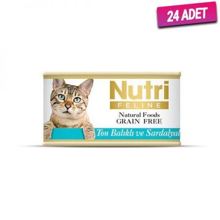 Nutri Feline Ton Balık&Sardalyalı Tahılsız Kedi Konservesi 85 Gr - 24 Adet