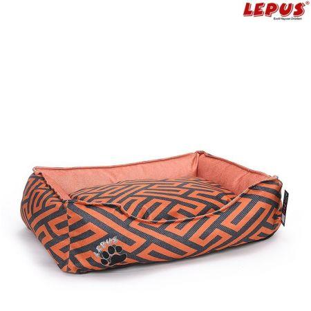 Lepus Premium Köpek Yatağı Taba M 60x44x22h cm