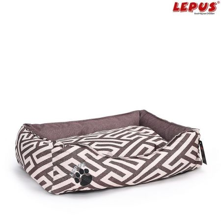 Lepus Premium Köpek Yatağı Kahverengi M 60x44x22h cm