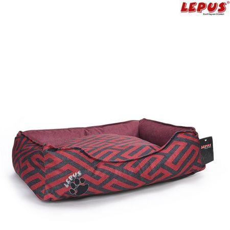 Lepus Premium Köpek Yatağı Bordo M 60x44x22h cm