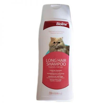 Bioline Uzun Tüylü Kediler İçin Şampuan 250 Ml