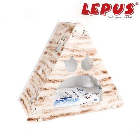 Lepus Prizma Kedi Yuvası Gri 35x53x61h cm