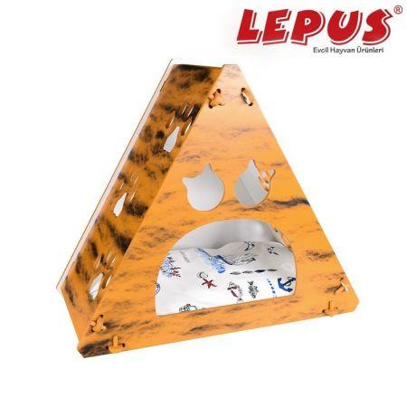 Lepus Prizma Kedi Yuvası Krem 35x53x61h cm