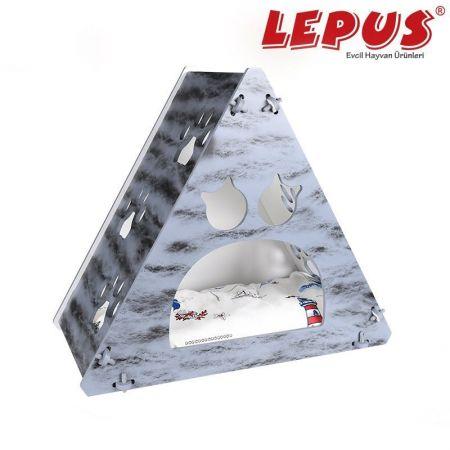 Lepus Prizma Kedi Yuvası Hardal 35x53x61h cm