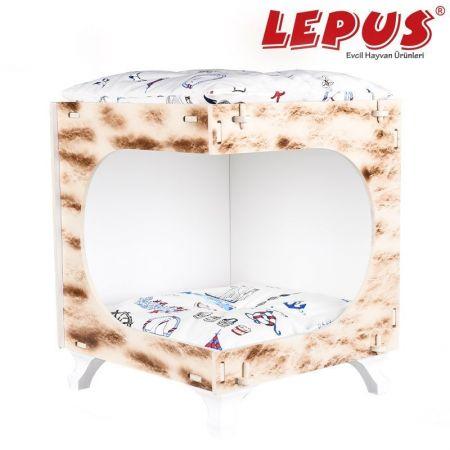 Lepus Küp Max Kedi ve Küçük Irk Köpek Yuvası Krem 40x45x50h cm