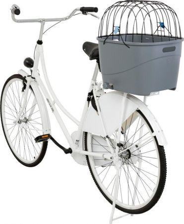 Trixie Köpek İçin Bisiklet Arkası Sepeti Plastik ve Metal 36x47x46h Cm Gri