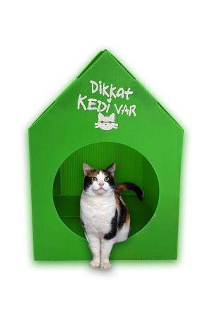 Plastik Kedi Evi - Yeşil