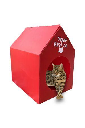 Plastik Kedi Evi - Kırmızı