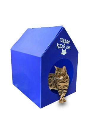 Plastik Kedi Evi - Mavi