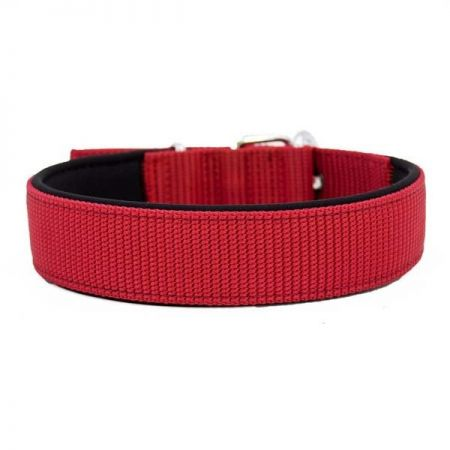 Doggie Comfort Dokuma Köpek Boyun Tasması Large Kırmızı 4x57-65 Cm