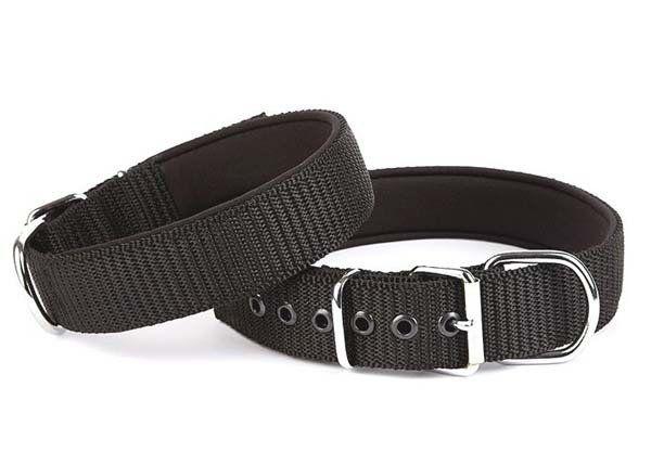 Doggie Comfort Dokuma Köpek Boyun Tasması Large Siyah 4x57-65 Cm