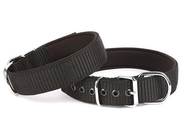 Doggie Comfort Dokuma Köpek Boyun Tasması Medium Siyah 4x52-60 Cm