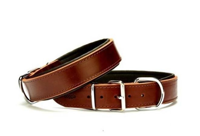 Doggie Güçlü Deri Köpek Boyun Tasması Large Kahverengi 4x57-65 Cm
