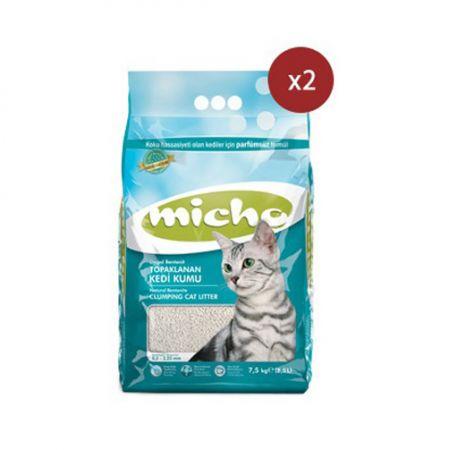Micho İnce Taneli Topaklanan Kedi Kumu 8.5 Lt x 2 Adet