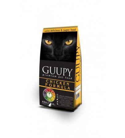 Guupy Tavuklu Kedi Maması 15 Kg