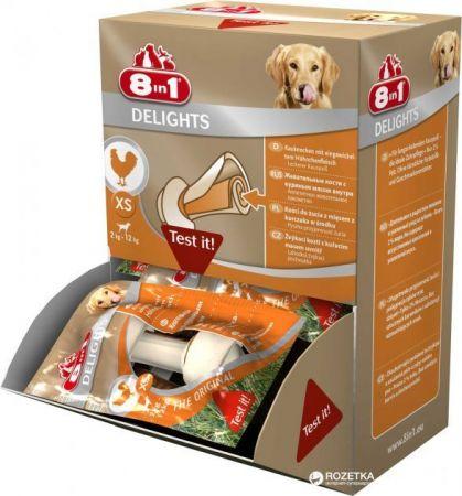 8 in 1 Delights Tavuklu Köpek Ödül Kemiği XS 1 Adet