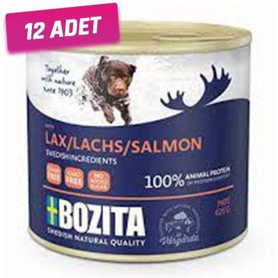 Bozita Somonlu Tahılsız Yetişkin Köpek Konservesi 625 Gr - 12 Adet
