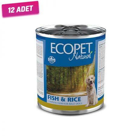 Ecopet Natural Balıklı Yetişkin Köpek Konservesi 300 Gr - 12 Adet