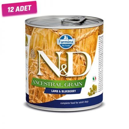N&D Düşük Tahıllı Kuzu Etli ve Yaban Mersinli Köpek Konservesi 285 Gr - 12 Adet