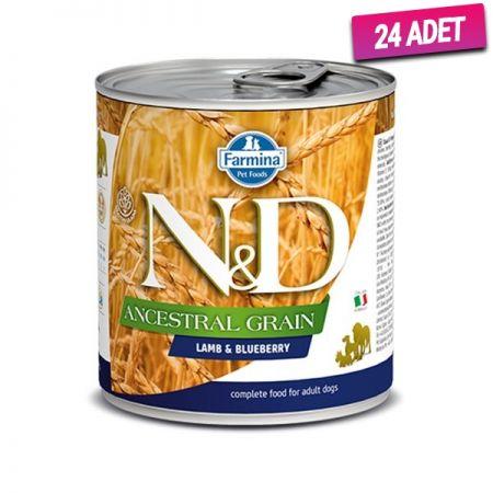 N&D Düşük Tahıllı Kuzu Etli ve Yaban Mersinli Köpek Konservesi 285 Gr - 24 Adet