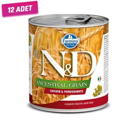 N&D Düşük Tahıllı Tavuk ve Narlı Köpek Konservesi 285 Gr - 12 Adet