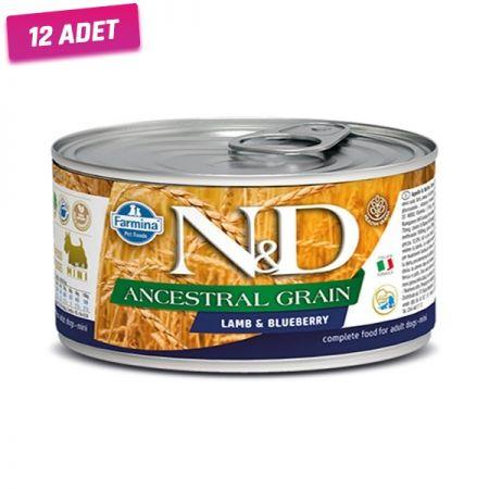 N&D Düşük Tahıllı Kuzu Etli ve Yaban Mersinli Köpek Konservesi 140 Gr - 12 Adet