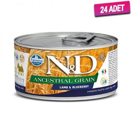 N&D Düşük Tahıllı Kuzu Etli ve Yaban Mersinli Köpek Konservesi 140 Gr - 24 Adet