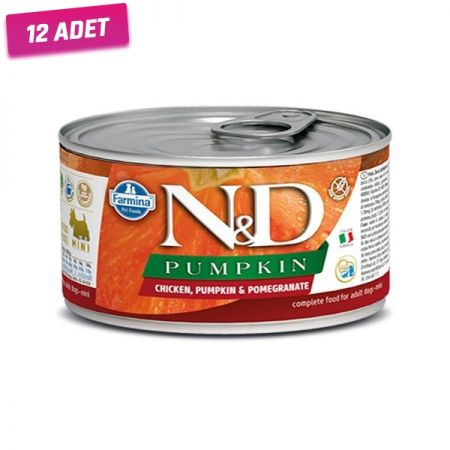 N&D Balkabaklı Tavuk ve Narlı Köpek Konservesi 140 Gr - 12 Adet