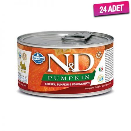 N&D Balkabaklı Tavuk ve Narlı Köpek Konservesi 140 Gr - 24 Adet