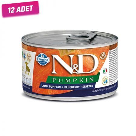 N&D Balkabaklı Kuzu Etli Anne ve Yavru Köpek Konservesi 140 Gr - 12 Adet