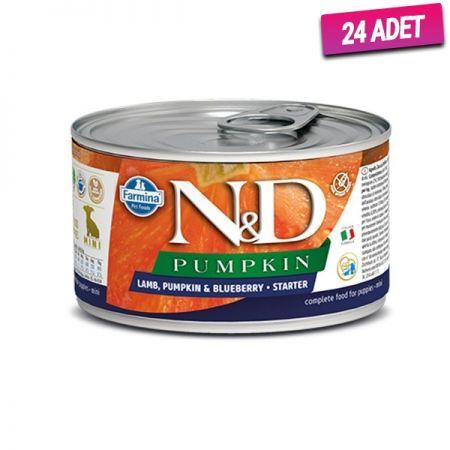 N&D Balkabaklı Kuzu Etli Anne ve Yavru Köpek Konservesi 140 Gr - 24 Adet