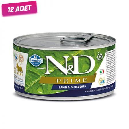 N&D Prime Kuzu Etli ve Yaban Mersinli Köpek Konservesi 140 Gr - 12 Adet