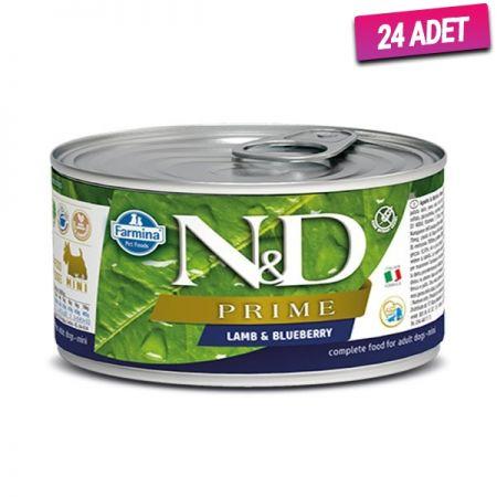 N&D Prime Kuzu Etli ve Yaban Mersinli Köpek Konservesi 140 Gr - 24 Adet