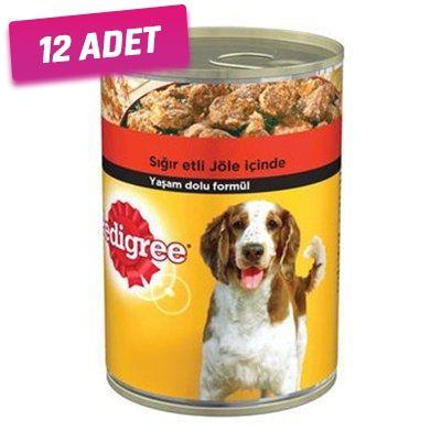 Pedigree Biftekli Konserve Köpek Maması 400 Gr - 12 Adet