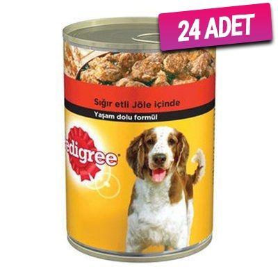 Pedigree Biftekli Konserve Köpek Maması 400 Gr - 24 Adet